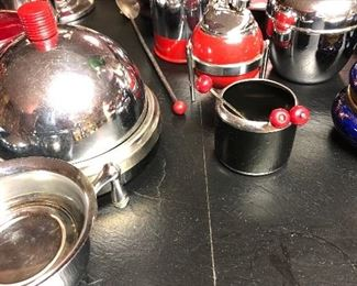 Mid -century replicas of art nouveau stainless wares... awesome!