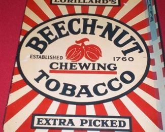 Beech-Nut chewing tobacco tin sign