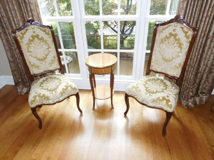 Pair of sitting chairs  $295       Inlay side table $135