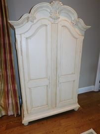 Entertainment wardrobe, holds flat screen TV and components, over 6 drawers.  $650