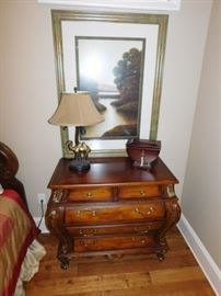 Bombay style night stand. 2 drawers over 3 drawers: $275