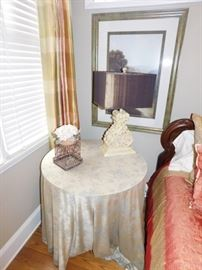 Side table & silk cloth: $50