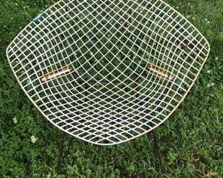One of two - Bertoia diamond mesh chairs