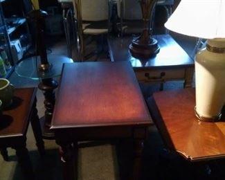 Numerous end tables