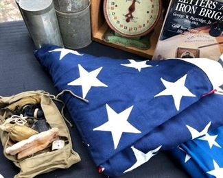 Large 9.5' x  5' cotton 48 star flag.