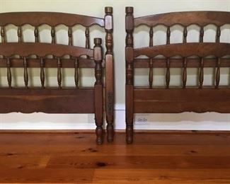 "Two ""Cherry Valley"" Stickley original twin beds. Slats not pictured but available."