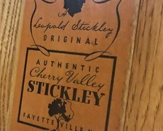 "Label on two ""Cherry Valley"" Stickley original twin beds."