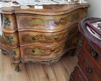 Another Excellent Handpainted Antique Bombay Chest. Great for an accent in any home!