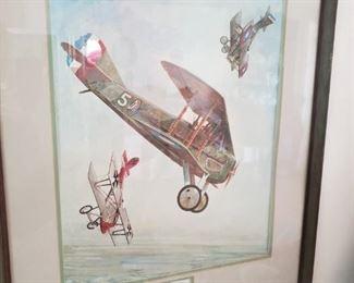 Several of these Vintage Plane Framed Prints