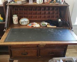 Inside of the Antique Secretary Desk