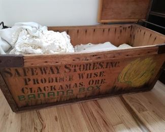 Now this is something wonderful! Antique Banana Box from Safeway Stores.  It is huge and in fairly good condition.