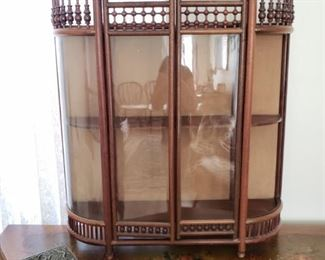 Fantastic Antique Curio Cabinet..can hang on wall or stand.