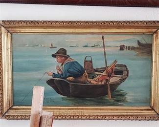Antique Original Oil signed by Maker