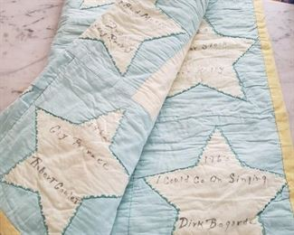 Judy Garland's Movies on a Quilt once owned by Judy Garland