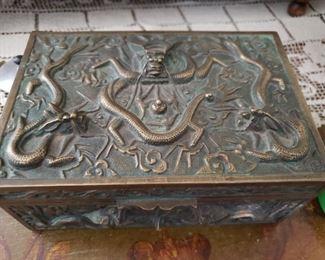 Antique 'Snake' Metal Box