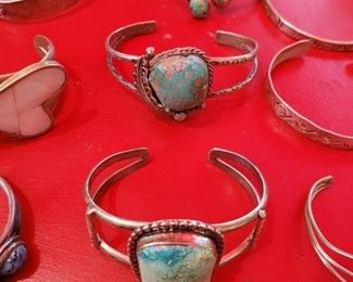 Turquoise and Sterling Silver Bracelets