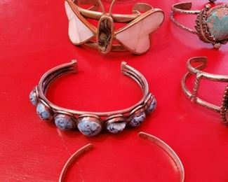 Turquoise, Butterfly and Sterling Silver Bracelets