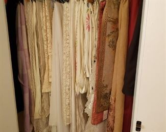 Vintage and Contemporary Tablecloths,  Runners, and etc.