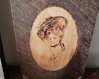 Gibson Girl...Wood Burn