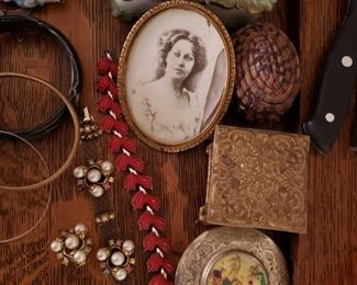 Vintage Bracelets, Earrings, and other precious items.