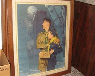 """Norman Rockwell """"Our Heritage"""" Boy Scout print"""