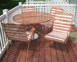 Vintage Woodard patio set