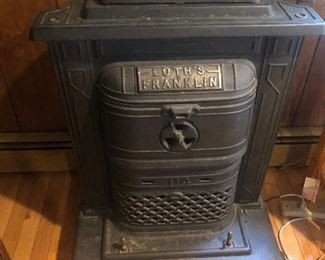 Antique Wood Franklin Stove mint condition