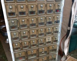 Antique Brass Mailbox Units