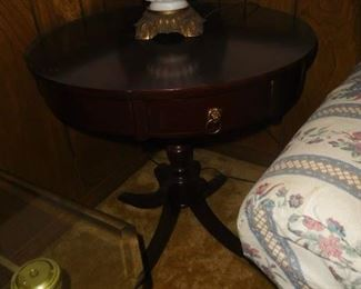 Mahogany drum table