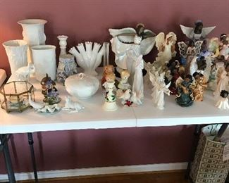 vases, decor, angels