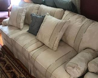 sofa and pillows
