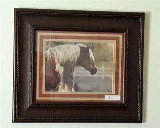 """Numerous Western Themed Framed Art 28.5""""x24.5"""""""