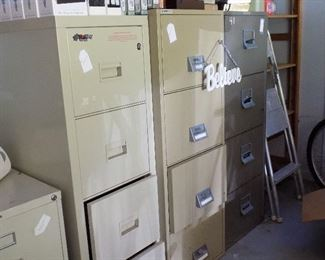 3 fire proof file cabinets