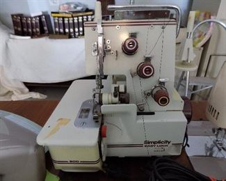 serger, powers up, not fully tested
