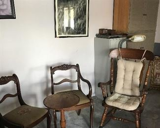 Vintage Chair set and rocker