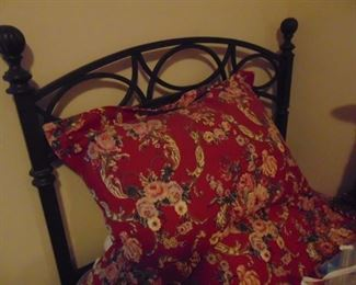 One of two twin beds.