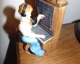 Telephone operator figurine