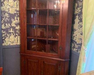 corner cabinet wood quality piece with key