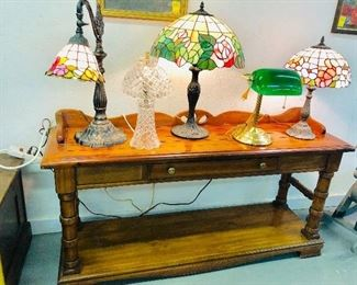 Solid Wood Table by Ethan Allen , Attractive Working lamps