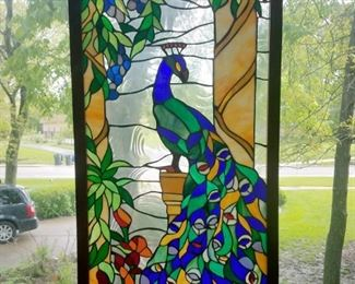 Incredible Peacock stained glass window