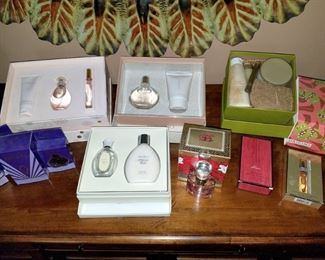 Boxed cologne and perfume sets