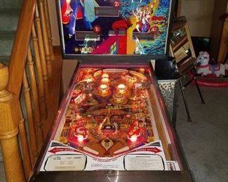 Pinball machine update...all lights turn on, a humming noise goes on and off. Machine does not function other than that.