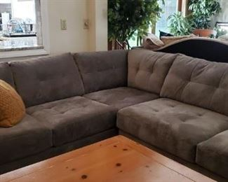 Sectional Grey Microfiber