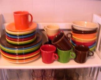 Fiesta ware dishes