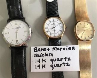 3 Baum Mercier mens watches.