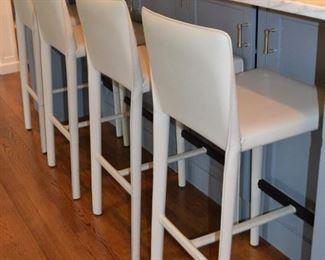 Leather barstools (5 total)