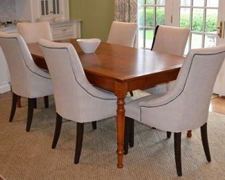 Leonard's tiger maple farm table