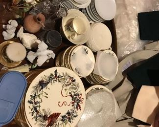 Lots of Lenox Winter china