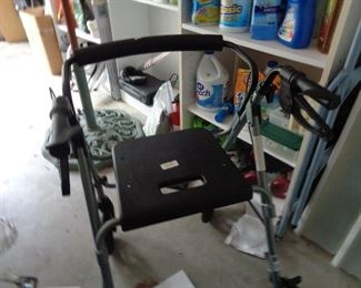 walkers, we have a wheel chair & shower chair too