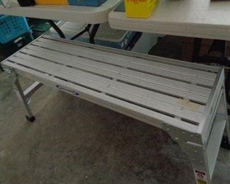 alum. bench